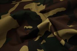 Tkanina kamuflażowa o splocie rip-stop w kolorze brązowym, zielonym, beżowym