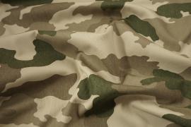 Tkanina kamuflażowa bawełniana w jasnych kolorach