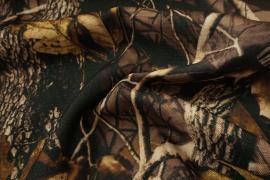 Tkanina kamuflażowa o splocie rip-stop we wzorze liście dębu