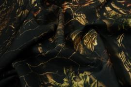 Tkanina poliestrowa w liściasty wzór