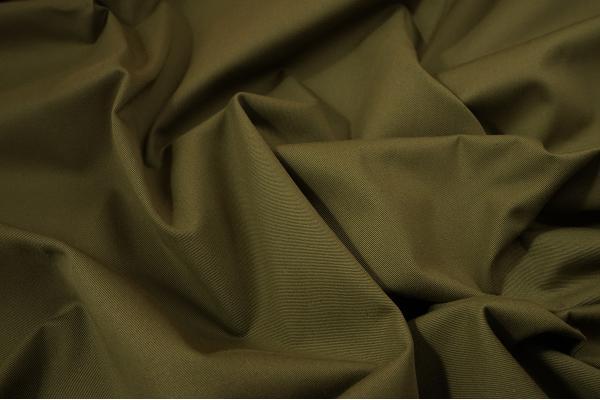 Tkanina bawełniana w kolorze zielonobrązowym