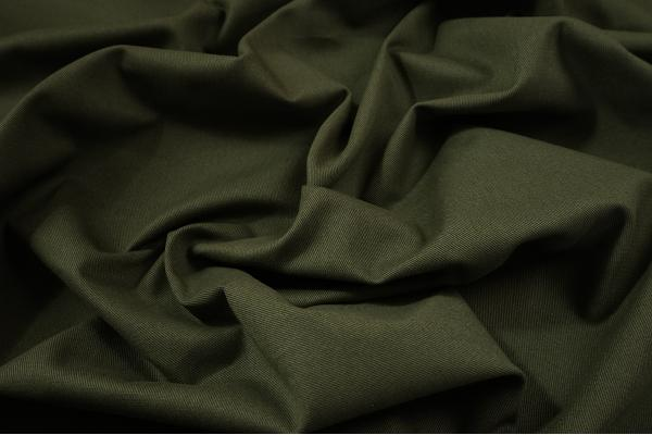 Tkanina bawełniana w kolorze ciemnozielonym