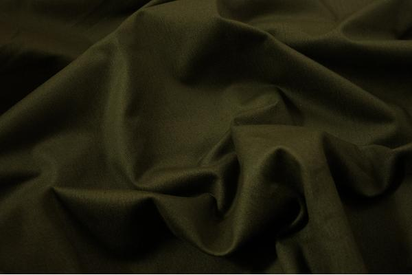 Tkanina bawełniana z dodatkiem lycry w kolorze oliwkowym