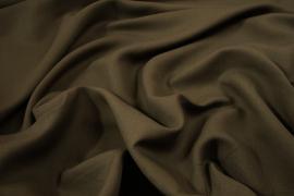 Tkanina lniana z domieszką wiskozy w kolorze oliwkowym