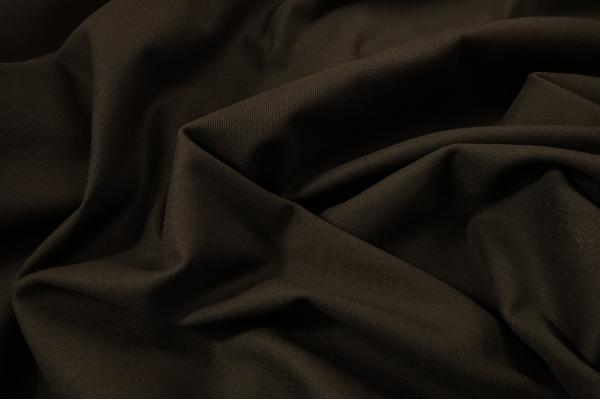 Tkanina bawełniana w kolorze ciemnobrązowym