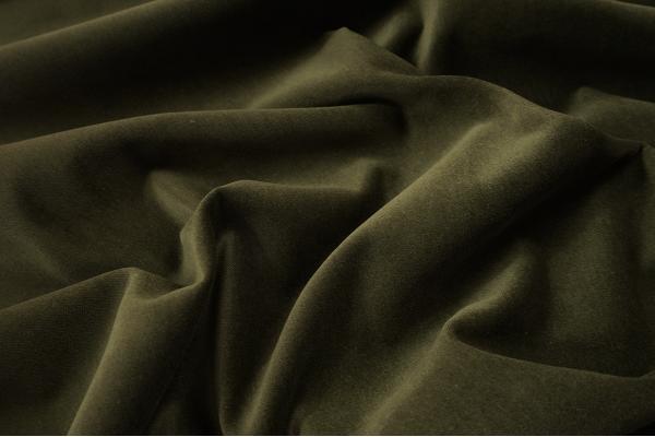 Tkanina bawełniana z aksamitnym wykończeniem w kolorze khaki