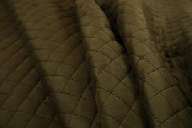 Tkanina kamuflażowa pikowana w kolorze khaki