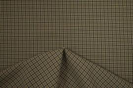 Tkania sukienkowa w musztardowo-czarną kratkę