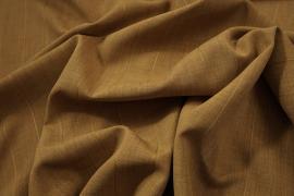 Tkanina sukienkowa w kolorze jasnobrązowym w miodowe i niebieskie prążki