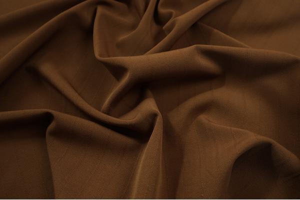 Tkanina sukienkowa z domieszką lycry w kolorze brązowym