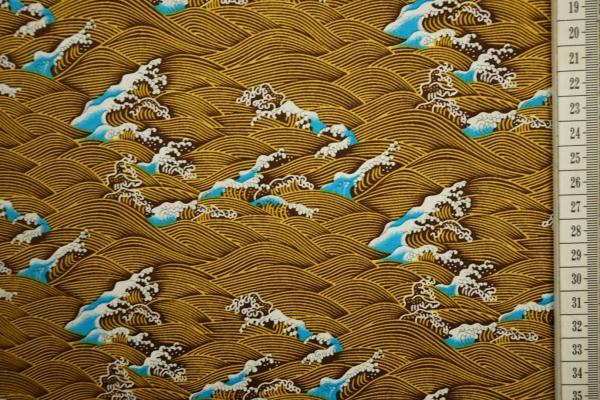 Bawełna drukowana - niebieskie fale
