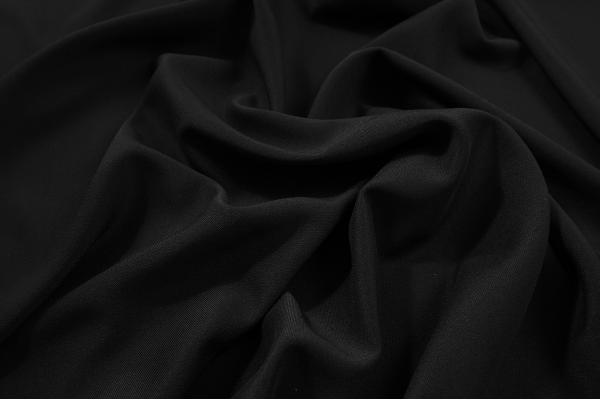 Tkanina sukienkowa z domieszką lycry i wiskozy w kolorze czarnym
