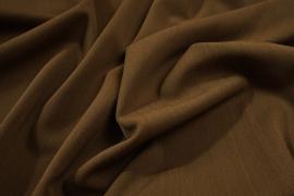 Tkanina sukienkowa z domieszką lycry i wiskozy w kolorze brązowym