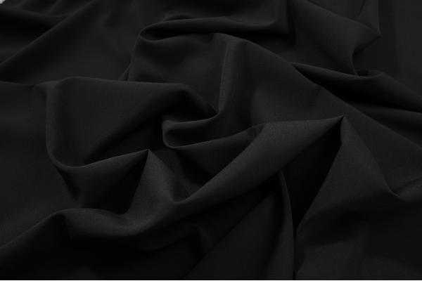 Tkanina sukienkowa z dodatkiem lycry w kolorze czarnym