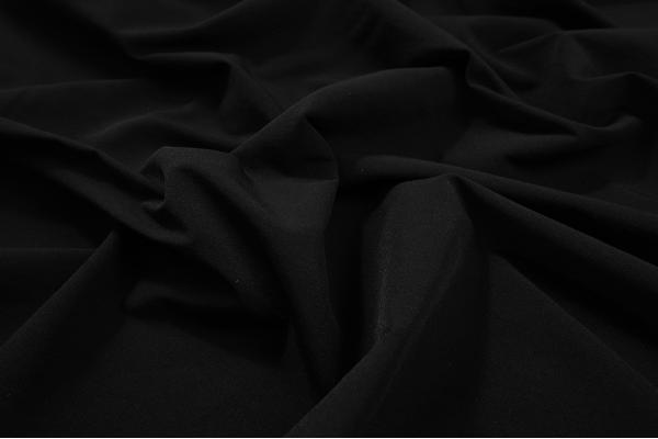 Tkanina sukienkowa z domieszką lycry w kolorze czarnym