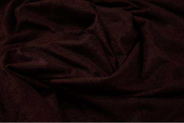 Tkanina welurowa w kolorze bordowym