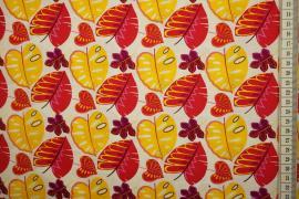 Bawełna drukowana - jesienne liście