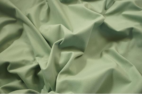 Tkanina welurowa w kolorze seledynowym