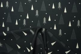 Tkania świąteczna w choinki na ciemnografitowym tle