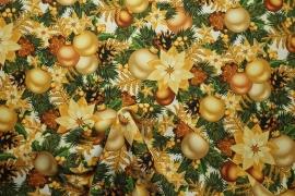 Tkania świąteczna w bombki i gwiazdy
