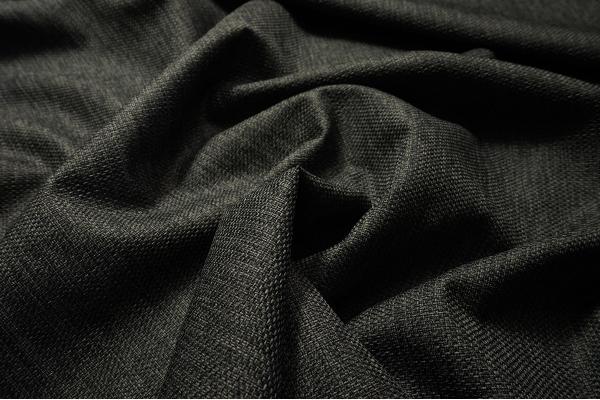 Tkanina tapicerska w kolorze ciemnografitowym