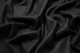 Tkanina wełniana w kolorze czarnym ze srebrną nitką