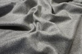 Tkanina wełniana w kolorze jasnoszarego melanżu