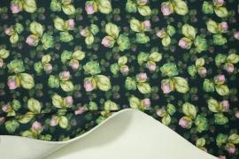 Filc drukowany w wiosenny wzór
