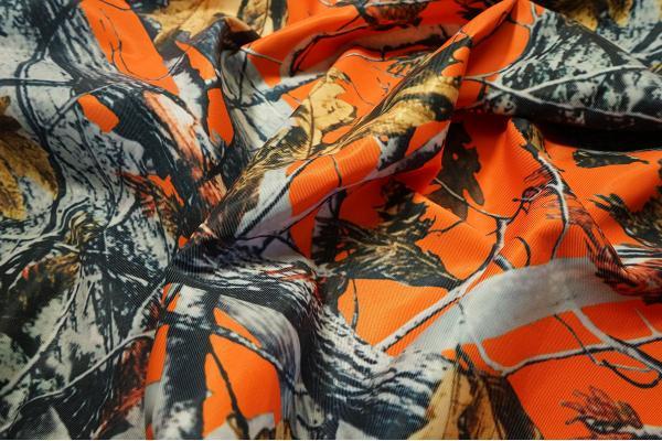 Tkanina kamuflażowa wodoodporna - pomarańczowa