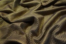 Tkanina dekoracyjna w kolorze złotym w jodełkę