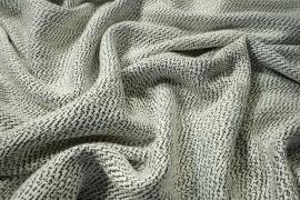 Tkanina wełniana z poliestrem w biało-czarny splot