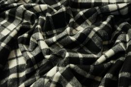 Tkanina wełniana z poliestrem w kratę