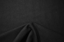 Tkanina wełniana z poliestrem w czarnym kolorze
