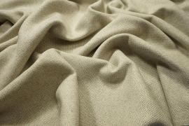 Tkanina wełniana w kolorze beżowym ze złotą nitką
