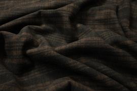 Tkanina wełniana w brązową kratę