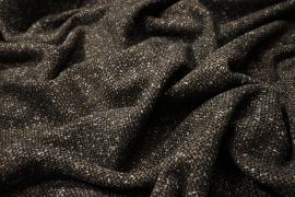 Tkanina wełniana w kolorze brązowego melanżu
