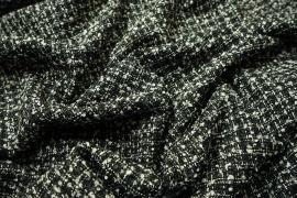 Tkanina wełniana w kolorze czarno-białym