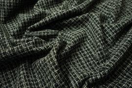 Tkanina wełniana w kolorze czarnym i białym