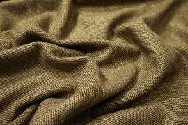 Tkanina wełniana w brązowy zygzak