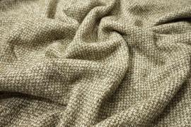 Tkanina wełniana w kolorze ecru i oliwkowym