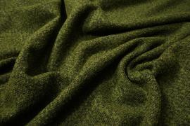 Tkanina wełniana w kolorze zielonego melanżu