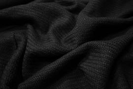Tkanina wełniana w kolorze czarnym