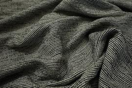 Tkanina wełniana w kolorze biało-czarnym