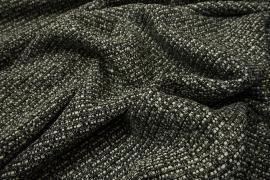 Tkanina wełniana w kolorze czarno-szarym