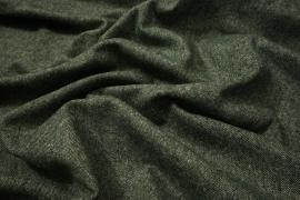 Tkanina wełniana - zielony melanż