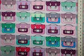Bawełna drukowana w kolorze lawendowym w torby