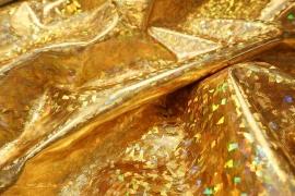 Ekoskóra w złotym hologramie
