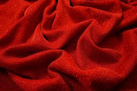 Tkanina brokatowa w kolorze czerwonym