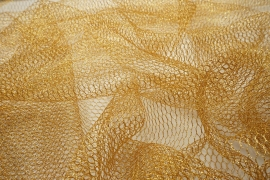 Tiul brokatowy w kolorze złotym