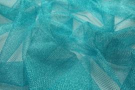 Tiul brokatowy w kolorze turkusowym